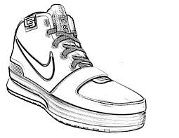 nike shoes drawings. nike shoes coloring page drawings