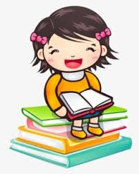 Free Girl Reading Clip Art With No Background Clipartkey