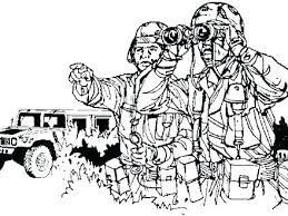 Military Coloring Page Pages Thank You Troops Color Army Ring R For