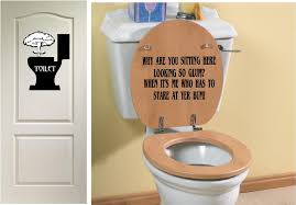 clever bathroom signs. bathroom ideas: funny signs for home on side toilet . clever