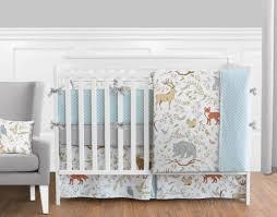 sweet jojo gray white elegant animal toile uni girl boy baby bedding crib set
