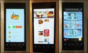 samsung refrigerator touch screen. screens on the samsung family hub refrigerator touch screen