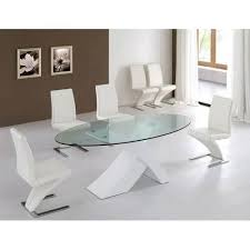 oval shaped glass top dining table