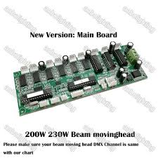 Sharpy Dmx Chart Details About 5r 200w Beam Moving Head Light 16chs Main Board 7r Motherboard Lcd Display Parts
