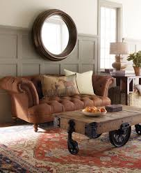 chesterfield sofa in a traditional living room view in gallery