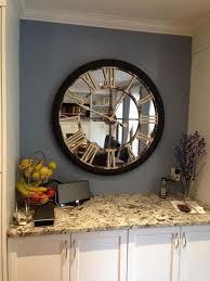 mirrored wall clock big wall clocks