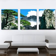 framed 3 panel large huang shan art landscape painting chinese 3 panel canvas art sets home on large 3 panel wall art with framed 3 panel large huang shan art landscape painting chinese 3