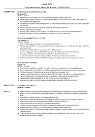 Sample Teacher Resume With Experience Business Teacher Resume Samples Velvet Jobs 44