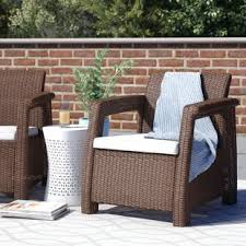 Black and white patio furniture Geometric Garden Quickview Patio Furniture At Home Patio Furniture Youll Love Wayfair