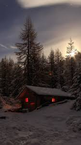 Night Winter Mobile Wallpaper