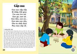 Đồng dao cho bé - Các trò chơi dân gian - Các câu hát vè dân gian - Bé từ 3  đến trở lên (dành cho bé tập nói) - Đạo đức -