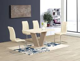 room with home design curtain amusing modern dining set for 4 26 ga vico cream gloss designer 120 cm