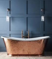 the hammered copper wye bateau cast iron bath tub