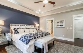 bedroom accent wall. Delighful Accent Blue Accent Wall In Master Bedroom Throughout Bedroom Accent Wall