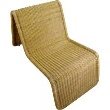 vintage wicker lounge chair by ikea 1970s