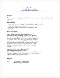 Plain Design Clerical Resume Template Splendid Download