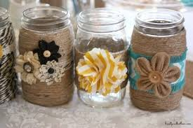 Mason Jars Decorated With Twine