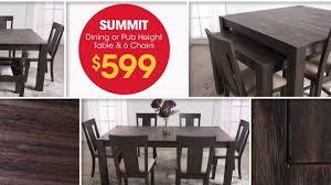 pull up a chair to the summit dining room set bob s furniture