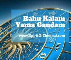 Rahu Kaal Chart Rahu Kalam Yamam Gandam Times On Weekdays Sundays Auspicious