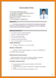 Charming Decoration Resume Format For Freshers 5 Simple Resume
