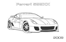 Coloring Pages Of Ferrari Inviting 599xx Page Car Along With 16