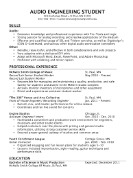 Audio Recording Engineer Sample Resume