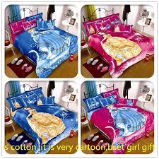 belle cinderella princess cartoon kids bedding set 3 4pcs cotton