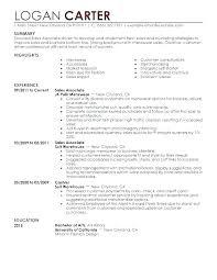 Retail Resume No Experience Retail Resumes Sales Associate Englishor Com