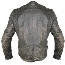 men s distressed motorcycle leather jacket