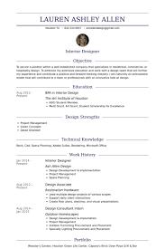 Resume Resume Samples For Interior Designers Best Inspiration For