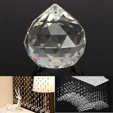 20mm clear crystal ball teardrop faceted chandelier pendant diy home decoration cod