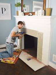 Fireplace Makeover: Tiling The Mantel With Marble Herringbone ...