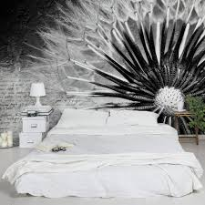 Bilderwelten Vliestapete Blumen Breit Pusteblume Schwarz Weiß