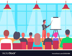 Businessman Pointing Flip Chart Conference Meeting