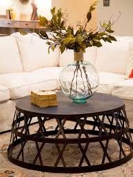 coffee table round industrial coffee table industrial metall coffee table with in light brown motif
