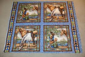 Custom Made Panel Lap Quilts - Cowboy by Jessica's Hope Chest ... & Custom Made Panel Lap Quilts - Cowboy Adamdwight.com