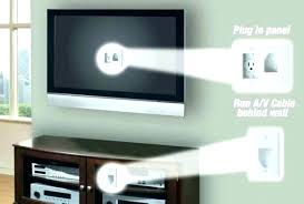 hide tv cords on wall hide cables hide cables concrete wall exterior in kit behind cord