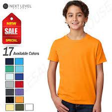 Details About Next Level Youth Cvc Crew Neck Short Sleeve T Shirt M 3312