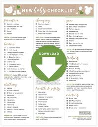 Freebie New Baby Checklist With Green Tips Blog Botanical