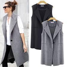 Новое женское повседневное без рукавов длинный плащ <b>пальто</b> ...