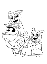 Puppy Dog Pals Coloring Pages Coloring Pages For Kids
