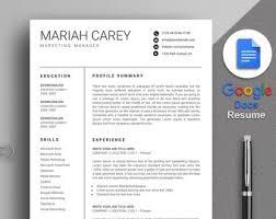 Google Docs Resume | Etsy