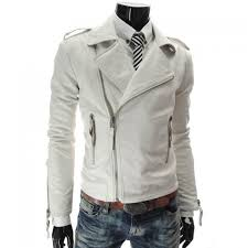 fashion style turndown collar slimming multi zipper embellished long sleeves pu leather coat for men