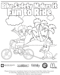 Small Picture Bicycle Safety Coloring Pages 5 Free Printable In Safety Coloring