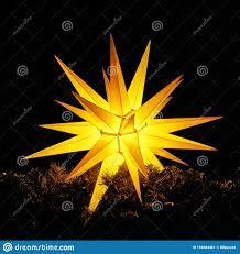 Leuchtender Weihnachtsstern Weihnachtsdekoration In Der