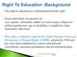right to education act in citizen association for child rights 2 3  the right to education