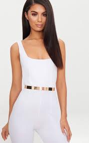 gold thin metal plated waist belt