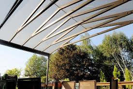 ultra modern glass and aluminum patio roof