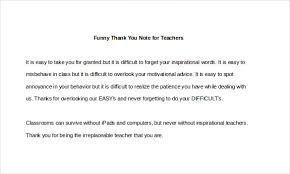 Funny Thank You Note – 8+ Free Word, Excel, Pdf Format Download ...