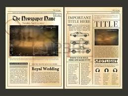 Vintage Newspaper Template Free The Wedding Program Newspaper Template Announcements Syncla Co